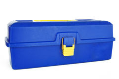 Blue Tackle Box Royalty Free Stock Image