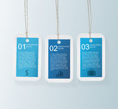 Blue Tag Infographic Stock Photography