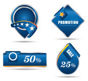 Blue tag promotion sale Royalty Free Stock Images