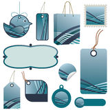 Blue tag set Stock Photography