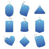 Blue tags. 100% vectors - white tags, labels Stock Image