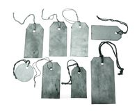Blue tags with strings Royalty Free Stock Image
