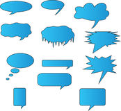 Blue talk bubbles Royalty Free Stock Image