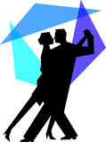 Blue Tango Dance Couple/eps Royalty Free Stock Image
