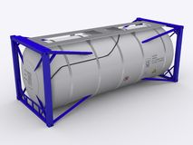 Blue tank container Royalty Free Stock Images