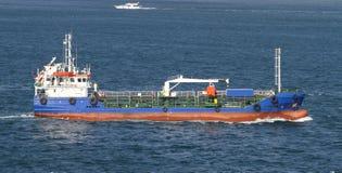 Blue Tanker Ship Royalty Free Stock Photo
