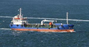 Blue Tanker Ship Stock Images