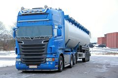 Blue Tanker Truck. Ready for delivery Royalty Free Stock Photos