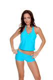 Blue Tankini Stock Images