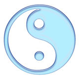 The blue tao. Simple 3d jin-yang symbol Royalty Free Stock Photo