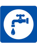 Blue tap and drop icon Stock Image
