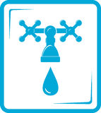Blue tap spigot icon Royalty Free Stock Photography