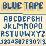 Blue tape alphabet. Alphabet set folded of blue tape Royalty Free Stock Photos