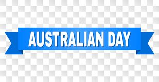 Blue Tape with AUSTRALIAN DAY Text. AUSTRALIAN DAY text on a ribbon. Designed with white title and blue stripe. Vector banner with AUSTRALIAN DAY tag on a stock illustration
