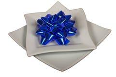Blue tape flower Royalty Free Stock Image