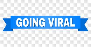 Blue Tape with GOING VIRAL Caption vector illustration