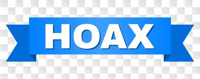 Blue Tape with HOAX Text royalty free illustration