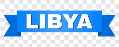 Blue Tape with LIBYA Text vector illustration