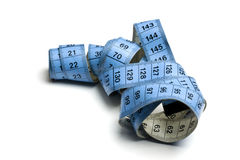 Blue tape measure Royalty Free Stock Photos