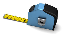 Blue tape measure Stock Photo