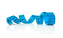 Blue tape measure Stock Image