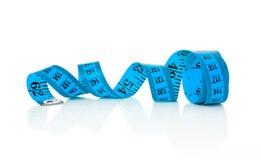 Blue tape measure Stock Image