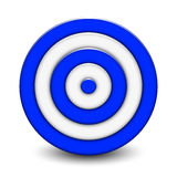 Blue target Stock Images
