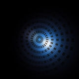 Blue target. Abstract shiny blue target background Royalty Free Stock Photography