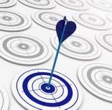The blue target Stock Photos