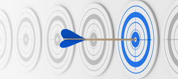 The blue target Royalty Free Stock Photos