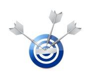 Blue target illustration design Royalty Free Stock Photos