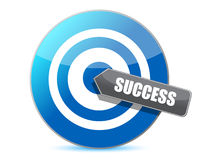 Blue target success illustration design Royalty Free Stock Images