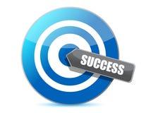 Blue target success illustration design Royalty Free Stock Images