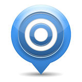 Blue Target Royalty Free Stock Photos