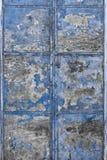 Blue tarnished Metal Door Stock Image