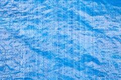 Blue tarpaulin Royalty Free Stock Image