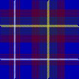 Blue Tartan Fabric Royalty Free Stock Photography