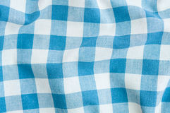 Blue tartan fabric striped. Texture Royalty Free Stock Images