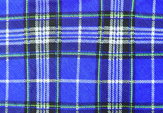 Blue tartan fabric texture Royalty Free Stock Photos