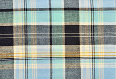 Blue tartan pattern. Blue and black plaid print as background Stock Image