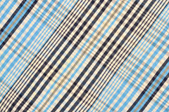Blue tartan pattern. Blue and white plaid print as background Stock Photo