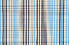 Blue tartan pattern. Blue and white plaid print as background Royalty Free Stock Photography