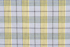 Blue tartan pattern. Blue and yellow plaid print as background Royalty Free Stock Photos
