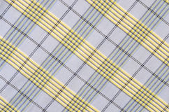 Blue tartan pattern. Blue and yellow plaid print as background Royalty Free Stock Images