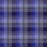 Blue tartan plaid background Stock Images
