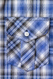 Blue Tartan Plaid Pocket. Stock Images