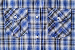 Blue Tartan Plaid Pocket Royalty Free Stock Photography
