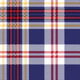 Blue tartan plaid seamless fabric texture. Vector illustration Royalty Free Stock Photo