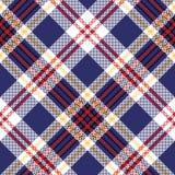 Blue tartan plaid seamless fabric texture. Vector illustration royalty free illustration