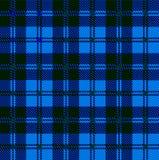 Blue Tartan Wool Material Stock Image